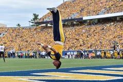 2015 calcio del NCAA - Maryland @ WVU Immagine Stock Libera da Diritti