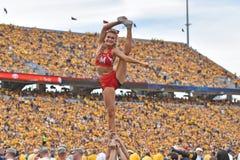 2015 calcio del NCAA - Maryland @ WVU Fotografie Stock Libere da Diritti