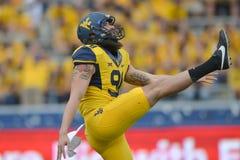 2015 calcio del NCAA - Maryland @ WVU Fotografia Stock Libera da Diritti