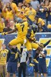 2015 calcio del NCAA - Maryland @ WVU Immagini Stock Libere da Diritti