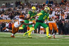 Calcio del NCAA - Oregon allo stato dell'Oregon Fotografia Stock