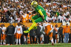 Calcio del NCAA - Oregon allo stato dell'Oregon Fotografie Stock