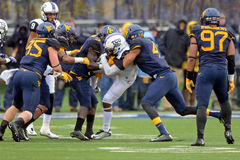 2014 calcio del NCAA - TCU-WVU Fotografie Stock Libere da Diritti