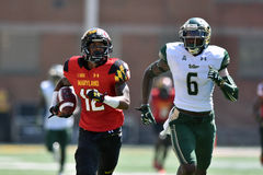 2015 calcio del NCAA - USF @ Maryland Immagine Stock