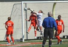 Calcio del NCAA Womenâs Fotografie Stock Libere da Diritti