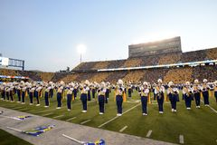 2014 calcio del NCAA - WVU-Oklahoma Immagine Stock Libera da Diritti