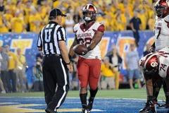 2014 calcio del NCAA - WVU-Oklahoma Fotografia Stock Libera da Diritti