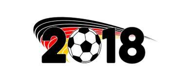 Calcio 2018 dell'insegna della bandiera della Germania fotografia stock libera da diritti