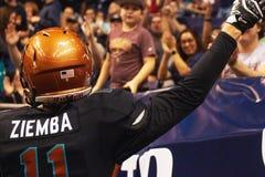 Calcio dell'interno dell'arena dell'Arizona Rattlers fotografie stock