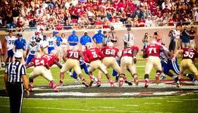 Calcio dell'università di Stato di Florida Immagini Stock Libere da Diritti