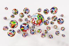 Calcio della coppa del Mondo Fotografia Stock