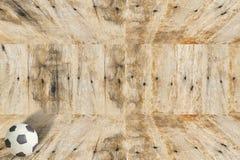 Calcio della plastilina su legno Immagini Stock