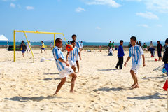 Calcio della spiaggia Fotografia Stock