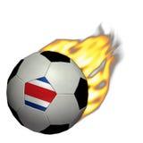 Calcio della tazza di mondo/gioco del calcio - Costa Rica su fuoco Fotografia Stock Libera da Diritti