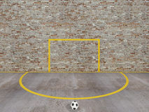 Calcio della via, corte urbana di calcio Fotografia Stock Libera da Diritti