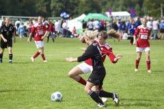 Calcio delle ragazze della tazza 2010 della Norvegia Fotografie Stock