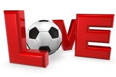 Calcio di amore Fotografia Stock
