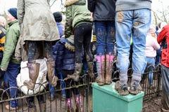Calcio di Ashbourne Shrovetide, Regno Unito Fotografia Stock Libera da Diritti