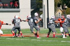 Calcio di divisione III del NCAA dell'istituto universitario Fotografia Stock