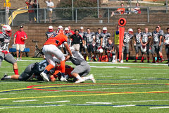 Calcio di divisione III del NCAA dell'istituto universitario Fotografie Stock Libere da Diritti