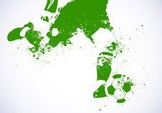 Calcio di gioco del calcio di Grunge Fotografie Stock Libere da Diritti