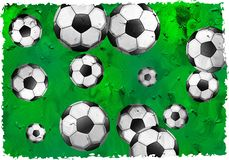 Calcio di Grunge Fotografie Stock