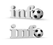 Calcio di Info Fotografia Stock