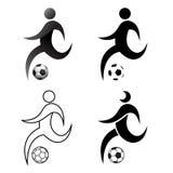 Calcio di preghiera dell'icona, azione, insieme, calcio, progettazione piana, semplice, Fotografia Stock Libera da Diritti