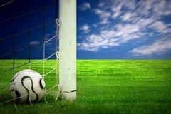 calcio di verde di erba della sfera Fotografia Stock Libera da Diritti