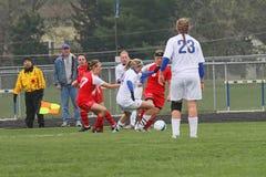 Calcio di Womanâs Fotografia Stock Libera da Diritti