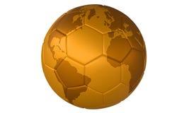 Calcio dorato Fotografia Stock Libera da Diritti