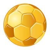 Calcio dorato di calcio dell'illustrazione di vettore fotografia stock