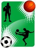Calcio e pallacanestro Fotografia Stock