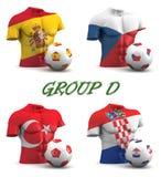 Calcio europeo 2016 del gruppo D Fotografia Stock