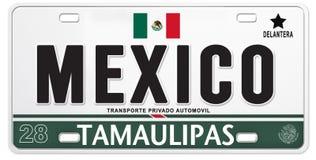 Calcio fiero messicano di calcio del Messico della targa di immatricolazione illustrazione di stock