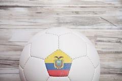 Calcio: Fondo del pallone da calcio dell'Ecuador per Competi internazionale immagini stock