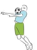 Calcio/giocatore di football americano Fotografie Stock