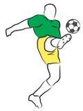 Calcio/giocatore di football americano Immagine Stock