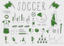 Calcio/gioco del calcio infographic Fotografia Stock Libera da Diritti