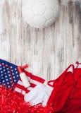 Calcio: Gli Stati Uniti fanno festa il fondo per Competi internazionale fotografia stock libera da diritti