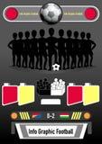 Calcio grafico e soldi di affari di informazioni Fotografia Stock Libera da Diritti
