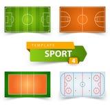 Calcio, il calcio, la pallacanestro, la pallavolo, hockey - sistemi il modello royalty illustrazione gratis