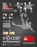 Calcio infographic   Fotografia Stock
