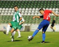 calcio kaposvar di nyiregyhaza del gioco Fotografie Stock