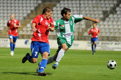 calcio kaposvar di nyiregyhaza del gioco Immagine Stock