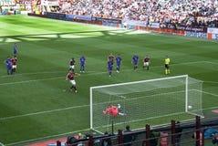 Calcio - la scossa di pena Immagine Stock Libera da Diritti