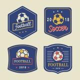 Calcio Logo Template Set di vettore Immagini Stock Libere da Diritti