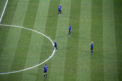Calcio a Milano Immagine Stock