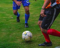 Calcio nel Brasile immagini stock libere da diritti