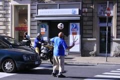 Calcio nella via Immagine Stock Libera da Diritti